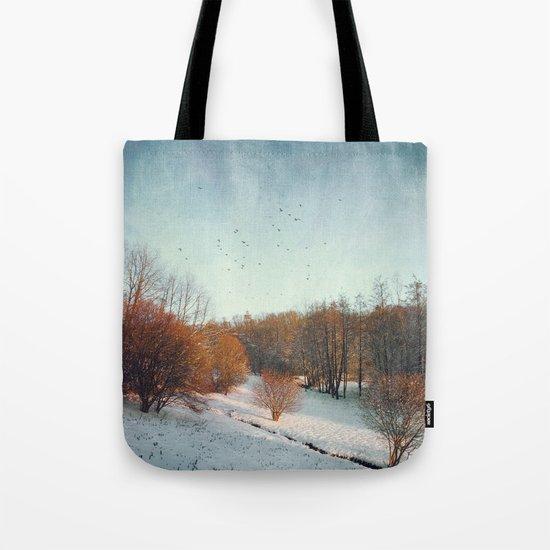 Trees in Winter II Tote Bag