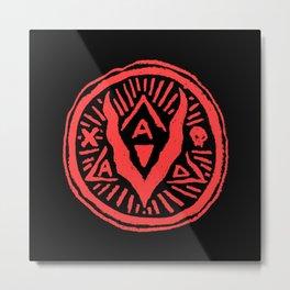 A Villain A Day Logo Stamp Metal Print
