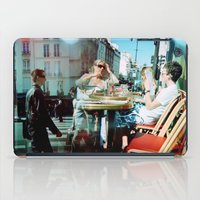 arsenal iPad Cases featuring Cafe Arsenal, Paris (Double Exposure) by istillshootfilm