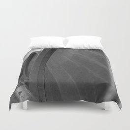 Black and White Antique Wine Barrels and Hampton Court Palace Duvet Cover