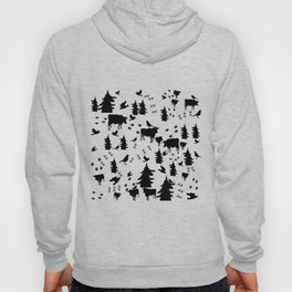 Cow Out In the Pasture by Lorloves Design Hoody