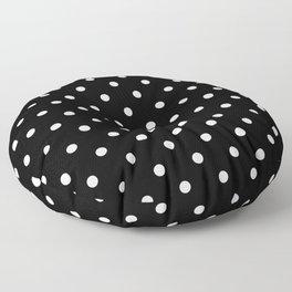Polka dot black and white Floor Pillow