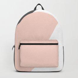 Elegant blush pink & grey geometric triangles Backpack