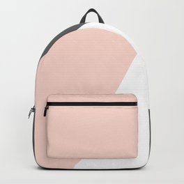 Elegant blush pink & grey geometric triangles Backpack
