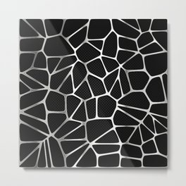 PATTERN-BLACK 3D Metal Print