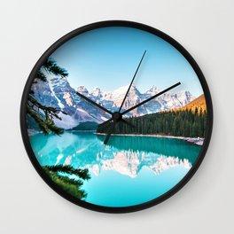 Lake Louise; Baniff, Canada Photographic Landscape Wall Clock