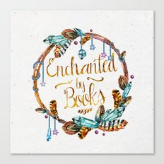 Enchanted by Books Canvas Print
