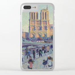 """Maximilien Luce """"The Quai Saint-Michel and Notre-Dame"""" Clear iPhone Case"""