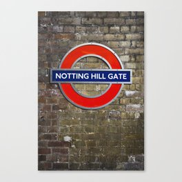 Notting Hill Gate Tube Sign Canvas Print