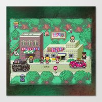 earthbound Canvas Prints featuring Earthbound town by likelikes