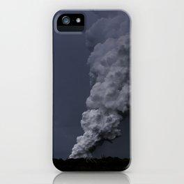 Hawaii's Kilauea volcano erupting. iPhone Case