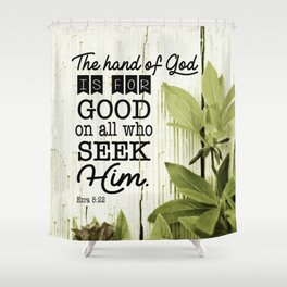 Ezra 8:22 Scripture Shower Curtain