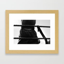 MY SMILING FACE SHOWED I HAD NO IDEA WHAT HE HAD BEEN THROUGH Framed Art Print