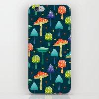mushrooms iPhone & iPod Skins featuring Mushrooms by Julia Badeeva