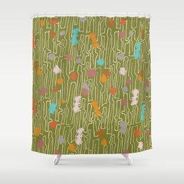 Lifes Path - Earthtone Shower Curtain