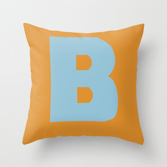 Blue B Throw Pillow