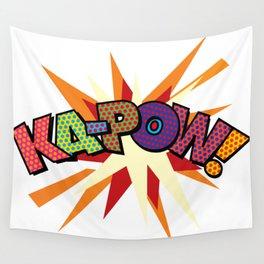 KA-POW Comic Book Modern Pop Art Cool Fun Colorful Graphic Wall Tapestry