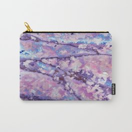 Violet and pink marble texture Carry-All Pouch