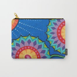 Mandala Flowers, by Soozie Wray Carry-All Pouch