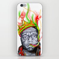 biggie smalls iPhone & iPod Skins featuring Biggie Smalls by Liam Reading