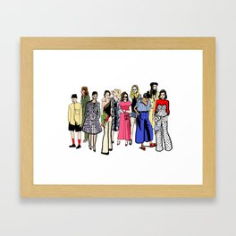 Fashion girls during fashion week (and one guy) Framed Art Print
