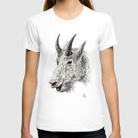 goat T-shirts featuring Goat by Ursula Rodgers