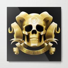 Golden Emblem Metal Print