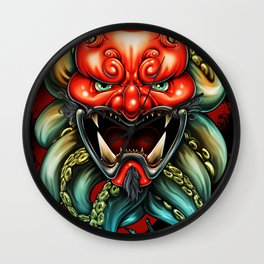 Oni Mask Summer 12 Wall Clock