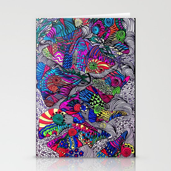 Mongali Faces Stationery Cards