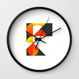 Cubist Rooster Wall Clock