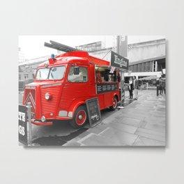 Red fire truck Metal Print