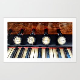 Antique Organ Stops and Piano Keys Photograph Art Print