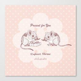Present for You - Elephant Shrew[Pale orange ] Canvas Print