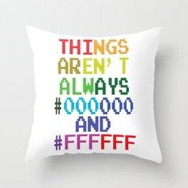 Funny Computer Gamer Programmer Geek Nerd Science Tee Tshirt Throw Pillow
