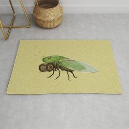 Cicada Playing a Sqeezebox Rug