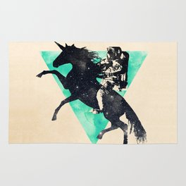 Ride the universe Rug