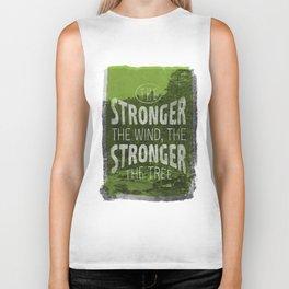 The stronger the tree Biker Tank