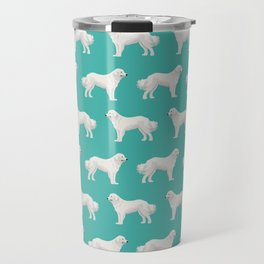 Great Pyrenees dog portrait pet gifts for dog person with unique dog breeds by pet friendly Travel Mug