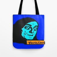 """gore Tote Bags featuring No, it's pronounced """"Eye-gore"""" 2 by Kramcox"""