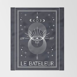 The Magician or Le Bateleur Tarot Throw Blanket