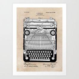 patent art Granville Type Writer 1900 Art Print