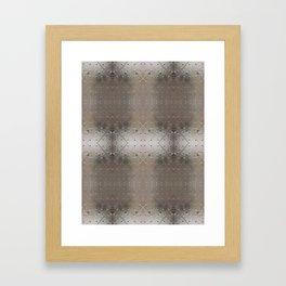 Metallic pattern Framed Art Print
