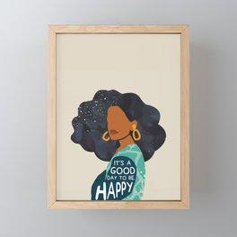 Be Happy Framed Mini Art Print