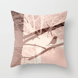 Bird tree Throw Pillow