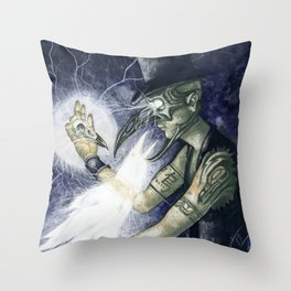Shadow Man 3 Throw Pillow