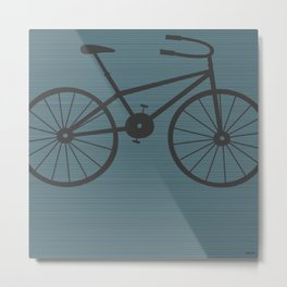 Grey Bike by Friztin Metal Print