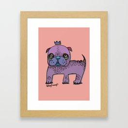 PUG KING Framed Art Print
