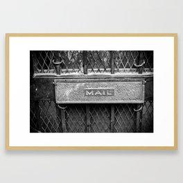 Signs: Mail Framed Art Print