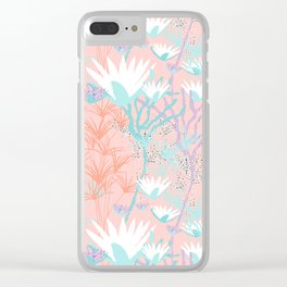 Lotus + Papyrus Garden Clear iPhone Case