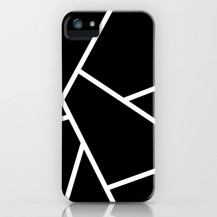 Black and White Fragments - Geometric Design II iPhone Case